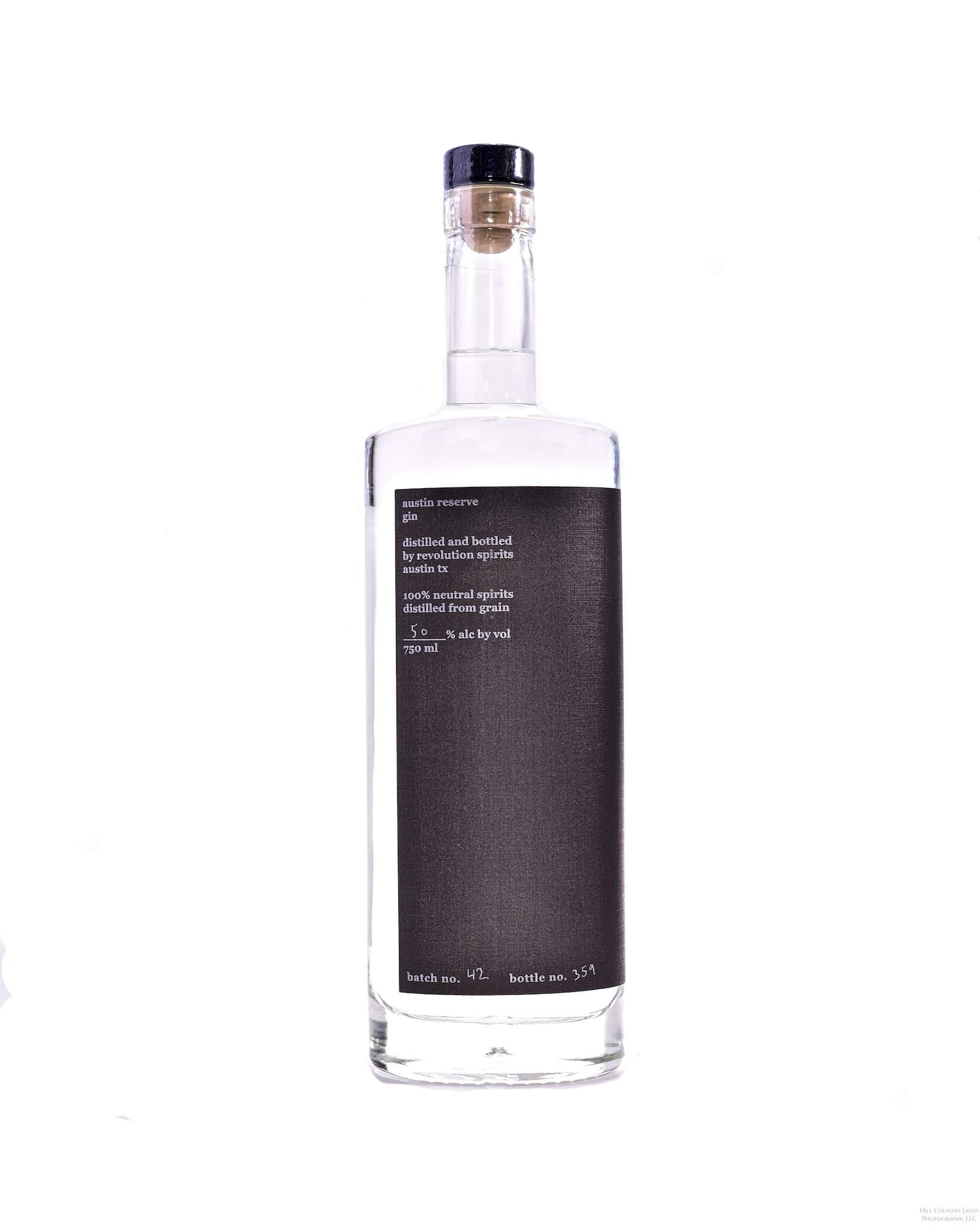 Austin Reserve Gin Revolution Spirits